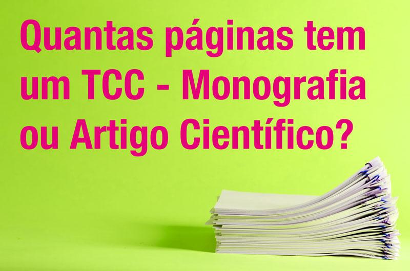 Quantas páginas tem um TCC?