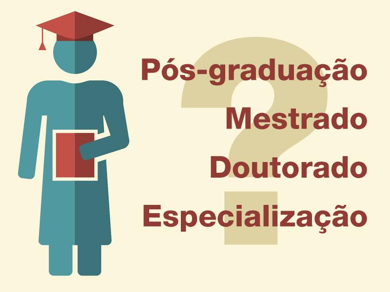 Diferenças e semelhanças entre mestrado, doutorado e pós-graduação