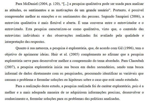Sugestão de Procedimento Metodológico como exemplo-Parte 02