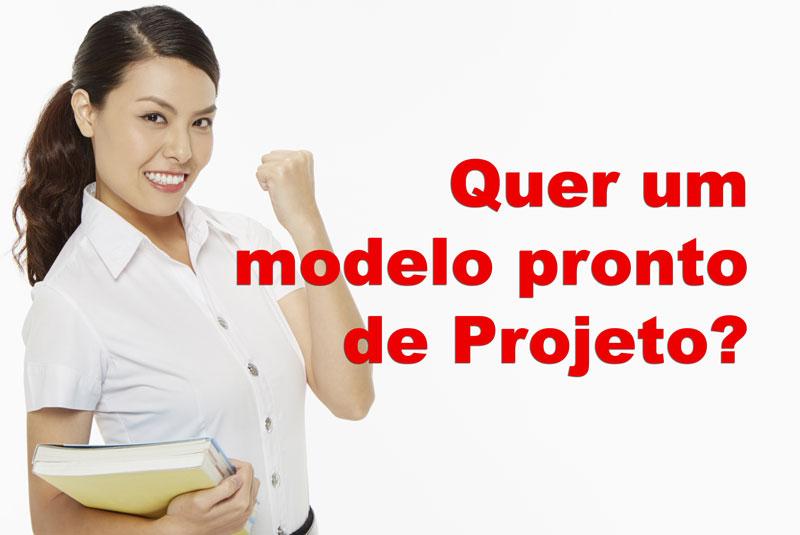 Modelo de projeto científico em PDF