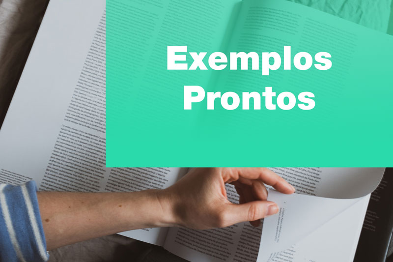 Pesquisa bibliográfica - exemplos