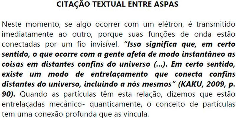 Exemplo: Projeto de Pesquisa para Citação Textual entre Aspas