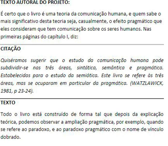 Citações baseadas no texto: Exemplos